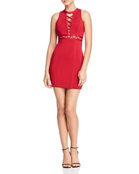 cfbc8457d59 GUESS - Mirage Cutout Lace-Up Body-Con Dress ...