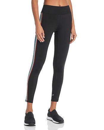 Terez - Metallic Rainbow Track Stripe Leggings