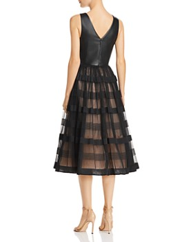 Nha Khanh - Faux-Leather & Tulle Dress