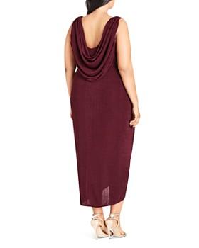 City Chic Plus - Luxe Drape Maxi Dress