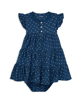 a9ebb30924d3 Ralph Lauren - Girls  Floral Flutter-Sleeve Tiered Dress with Bloomers -  Baby ...