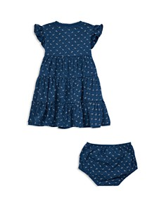 Ralph Lauren - Girls' Floral Flutter-Sleeve Tiered Dress with Bloomers - Baby
