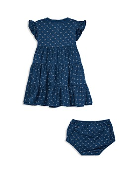 ... Ralph Lauren - Girls  Floral Flutter-Sleeve Tiered Dress with Bloomers  - Baby 2ca45be0ab42