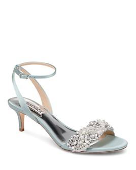 Badgley Mischka - Women's Fiona Embellished Kitten Heel Sandals