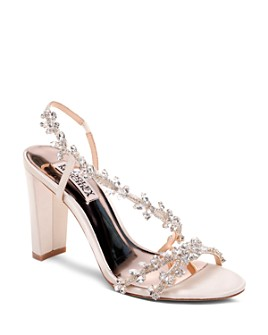 Badgley Mischka - Women's Felda Crystal Embellished High-Heel Sandals