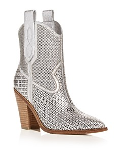 Sigerson Morrison - Women's Karka Pointed-Toe High-Heel Western Booties