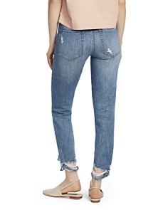 Ella Moss - Vintage Distressed High-Waisted Mom Jeans in Holly