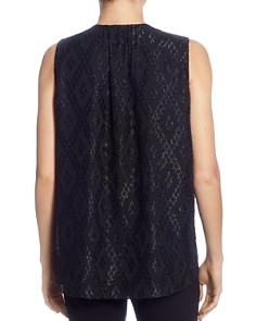 T Tahari - Sleeveless Drape-Front Top