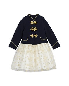 Pippa & Julie - Girls' Majorette Military Jacket & Star Tutu Dress Set - Baby