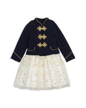 Pippa & Julie Girls' Majorette Military Jacket & Star Tutu Dress Set - Baby
