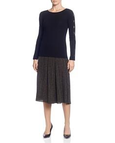 T Tahari - Pleated Metallic Skirt