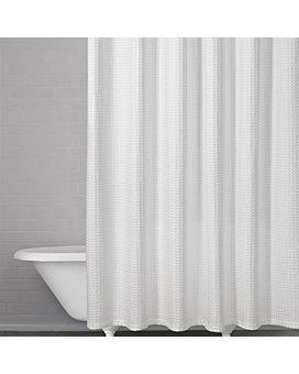 Kassatex - Honeycomb Waffle Shower Curtain