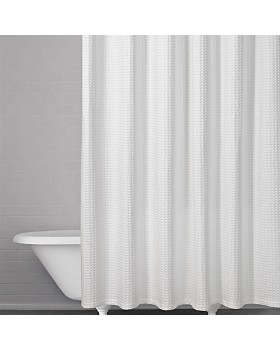 Kassatex - Honeycomb Waffle Shower Curtain