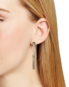 Rebecca Minkoff - Glitter Resin Hoop Earrings