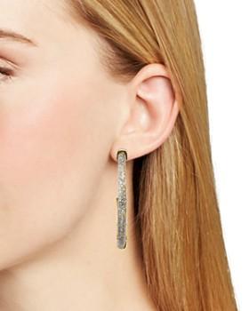 Rebecca Minkoff - Glitter Resin Hoop Earrings