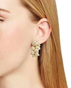 kate spade new york - Simulated Pearl Cluster Drop Earrings