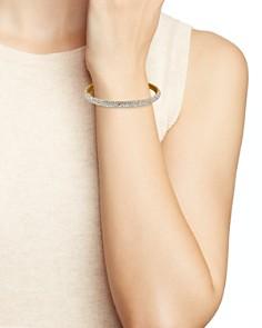 kate spade new york - Gold-Plated Pavé Bangle Bracelet