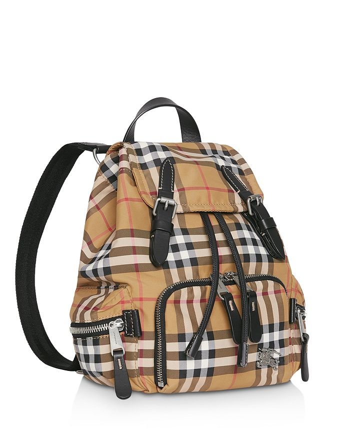 Burberry - The Small Crossbody Rucksack in Vintage Check 140290a73454c