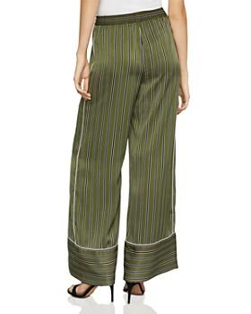 BCBGMAXAZRIA - Striped Satin Wide-Leg Pants