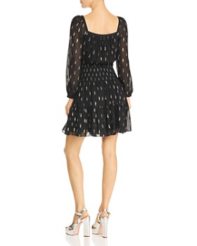 Rebecca Taylor - Metallic Clip Dot Dress