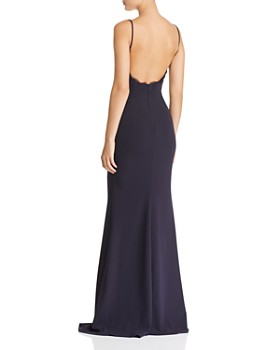 Katie May - Plunging Crepe Gown