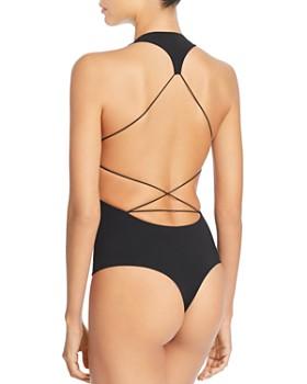 T by Alexander Wang - Swim Jersey Crisscross Back Bodysuit