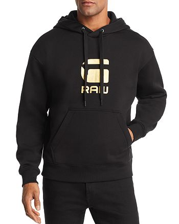 G-STAR RAW - Togrul Metallic Logo-Print Hooded Sweatshirt