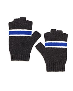 The Men's Store at Bloomingdale's - Striped Knit Fingerless Gloves - 100% Exclusive