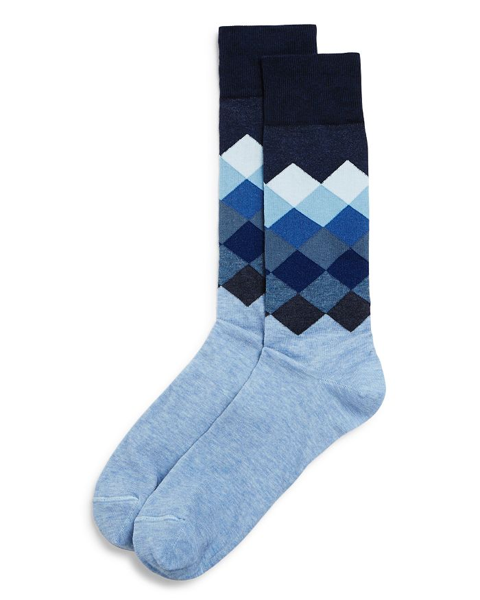 The Men's Store at Bloomingdale's - Gradient Diamond Socks - 100% Exclusive