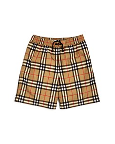 Burberry - Boys' Galvin Check Swim Trunks - Little Kid, Big Kid