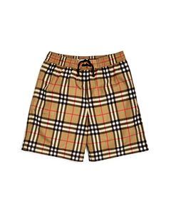 95cfeb3607da1 Burberry Boys' Galvin Check Swim Trunks - Baby | Bloomingdale's