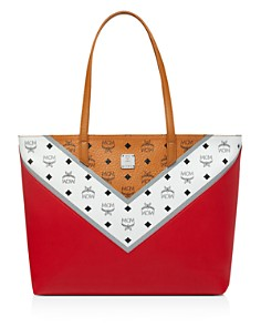 MCM - Move Visetos Medium Shopper Tote