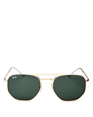 Ray-Ban Unisex Brow Bar Aviator Sunglasses, 54mm
