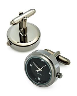 LINK UP - Gunmetal-Tone Working Watch Cufflinks