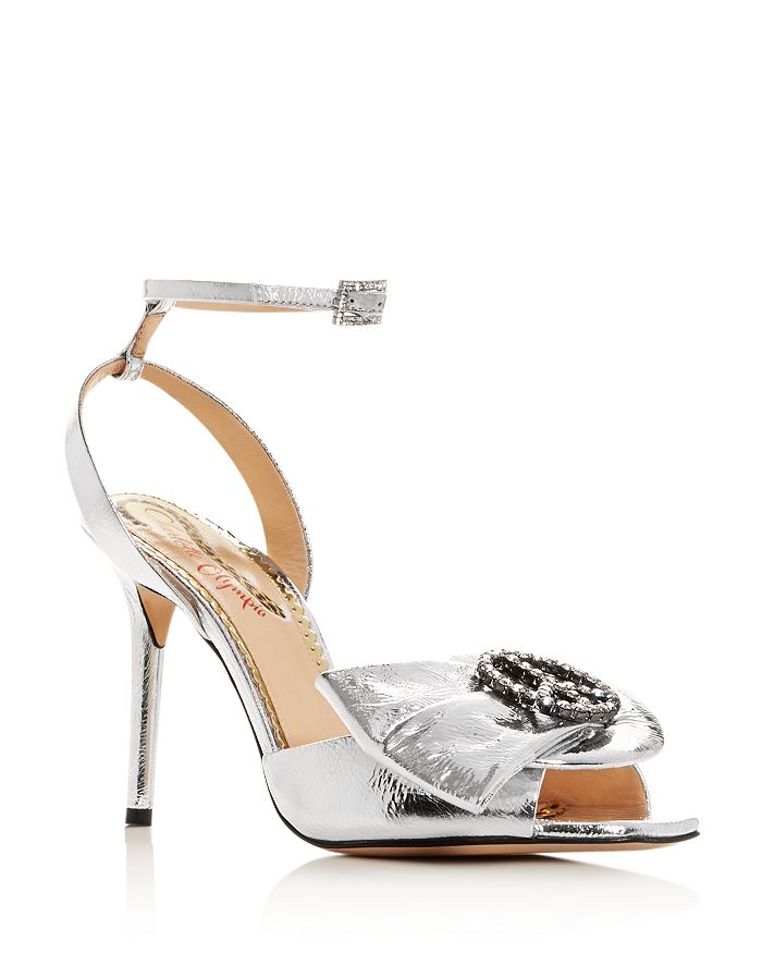 Charlotte Olympia Women's Salome Embellished High-Heel Sandals In Silver