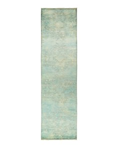 """Solo Rugs - Vibrance Omaha Hand-Knotted Runner Rug, 3' 3"""" x 12' 2"""""""