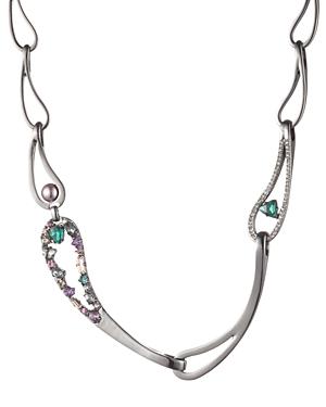 Carolee Paisley Link Collar Necklace, 17