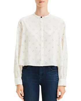 Theory - Cropped Easy Print Shirt