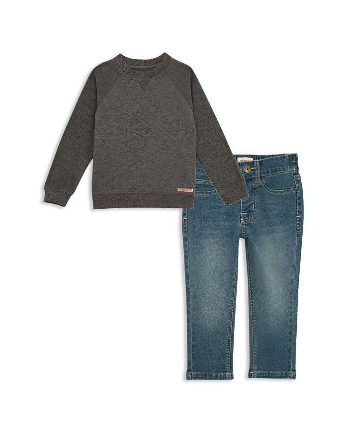 Hudson - Boys' Sweatshirt & Jeans Set - Little Kid