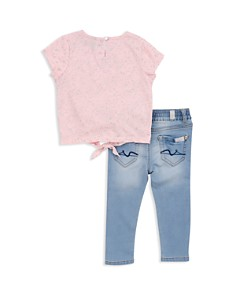 7 For All Mankind - Girls' Splatter-Print Top & Jeans Set - Little Kid