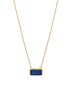 Anna Beck Sapphire Bar Pendant Necklace in 18K Gold-Plated Sterling Silver, 16
