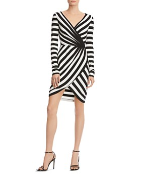 Bailey 44 - Striped Faux-Wrap Dress