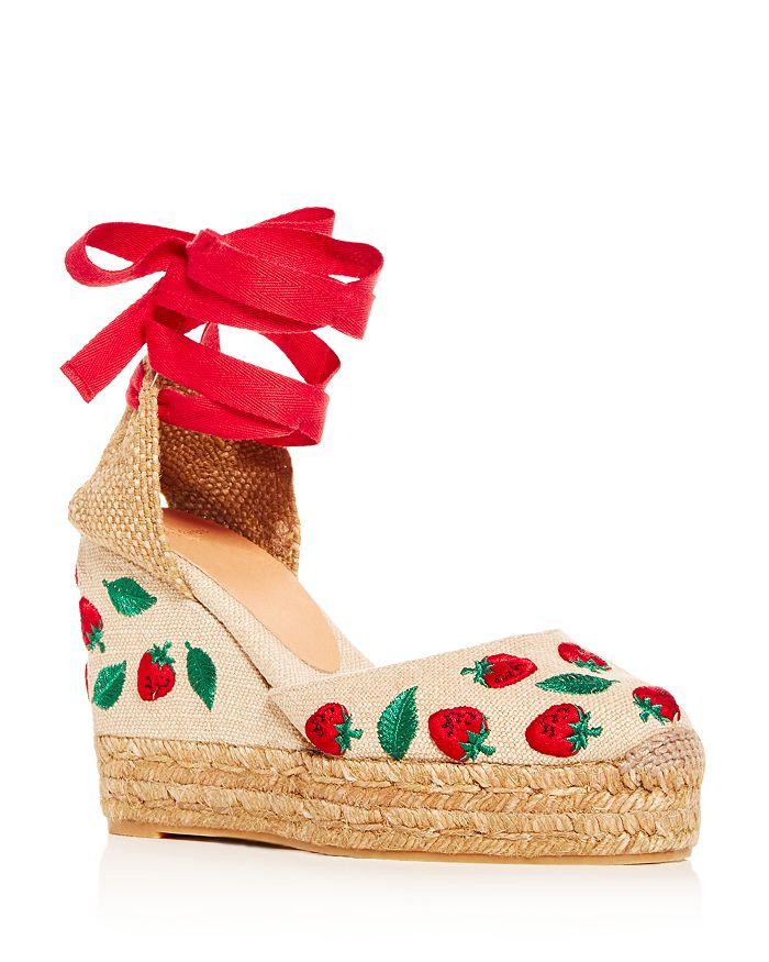 ebb253228 Castañer - Women's Carina Embroidered Wedge Platform Espadrille Sandals