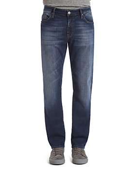 Mavi - Zach Straight Fit Jeans in Dark Brushed Williamsburg