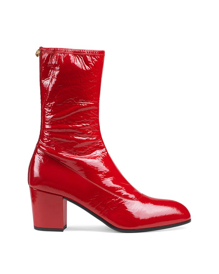 4a7653fda Gucci Men's Patent Leather Boots   Bloomingdale's