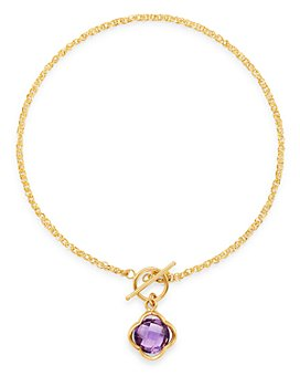 Bloomingdale's - Gemstone Clover Bracelet in 14K Yellow Gold