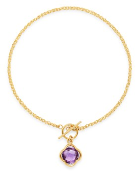 Bloomingdale's - Amethyst Clover Bracelet in 14K Yellow Gold - 100% Exclusive