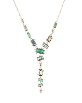 Alexis Bittar - Multi-Stone Lariat Necklace, 16""