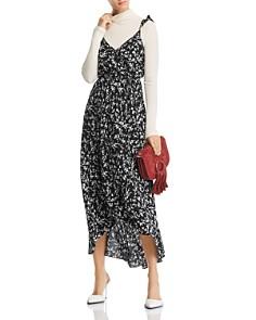 AQUA - Floral Faux-Wrap High/Low Dress - 100% Exclusive