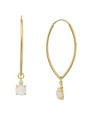 Argento Vivo Moonstone Oval Drop Earrings in 18K Gold-Plated Sterling Silver